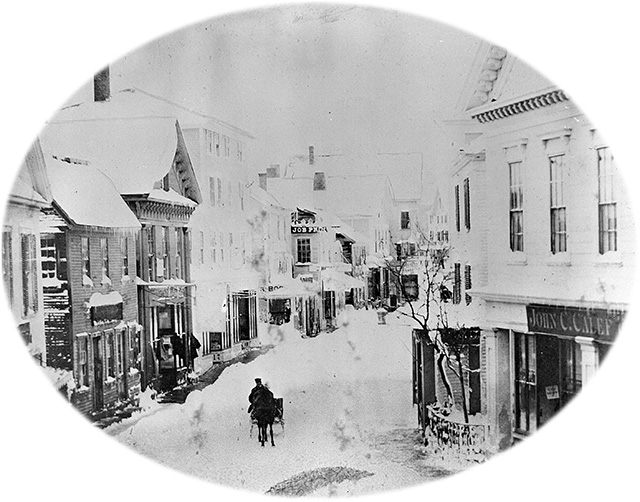 Main Street, Gloucester, April 4, 1861. Photograph by W. A. Elwell. Collection of the Cape Ann Museum Archives.