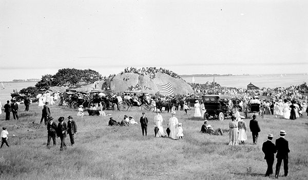 Dedication of Tablet Rock at Stage Fort Park, August 15, 1907. Cape Ann Museum Library & Archives Historic Photo collection.