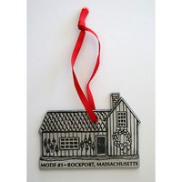 Pewter Ornament of Motif #1 – Rockport, Massachusetts