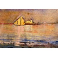"Winslow Homer ""Gloucester Harbor and Ten Pound Island"" Card Set"