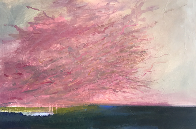 Elynn Kröger, Pink Cloud, 2006. Acrylic on board. Collection of the artist.