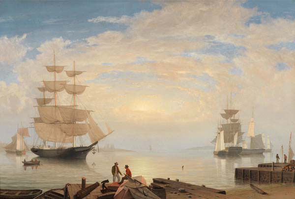 Fitz Henry Lane, Gloucester Harbor at Sunrise, c. 1850. Oil on canvas. [Acc. #2020]