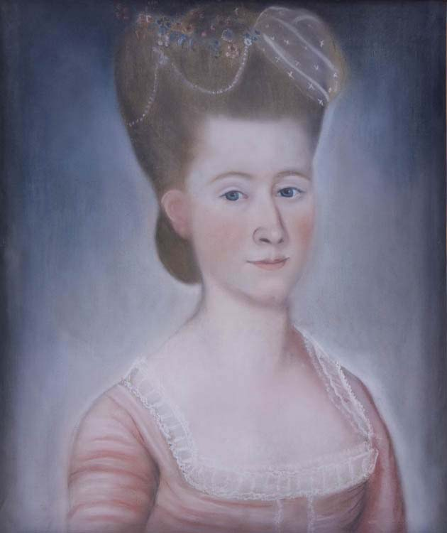 Benjamin Blyth (1746–1787), Portrait of Elizabeth Rogers Low (1764–1810), c. 1780. Pastel and paper mounted on canvas. Gift of the Estate of Elizabeth Alling, 1982 [Acc #2333.3]