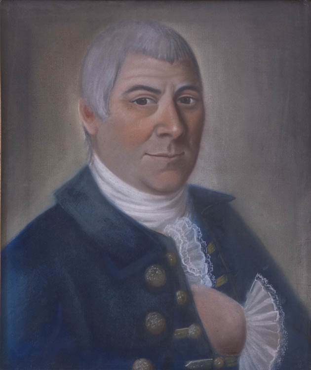 Benjamin Blyth (1746–1787), Portrait of Captain John Somes (1745–1816), c. 1780. Pastel and paper mounted on canvas. Gift of Mrs. Ranch from the Estate of Josephine Dolliver, 1959 [Acc #1596]