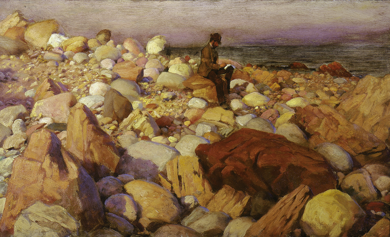 The Artist at Work by Charles Courtney Curran - Cape Ann ...