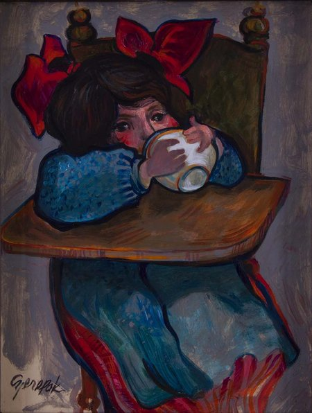 Red Bows (Doina, the artist's daughter)
