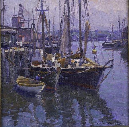 Captain Ben Pine S Docks By Emile A Gruppe Cape Ann