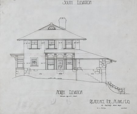 Residence for S. K. Ames, Esq. at Eastern Point Mass. —South Elevation