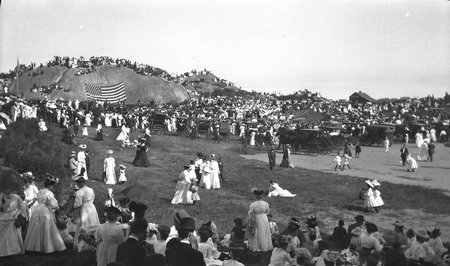 Dedication Of Tablet Rock At Stage Fort Park August 1907