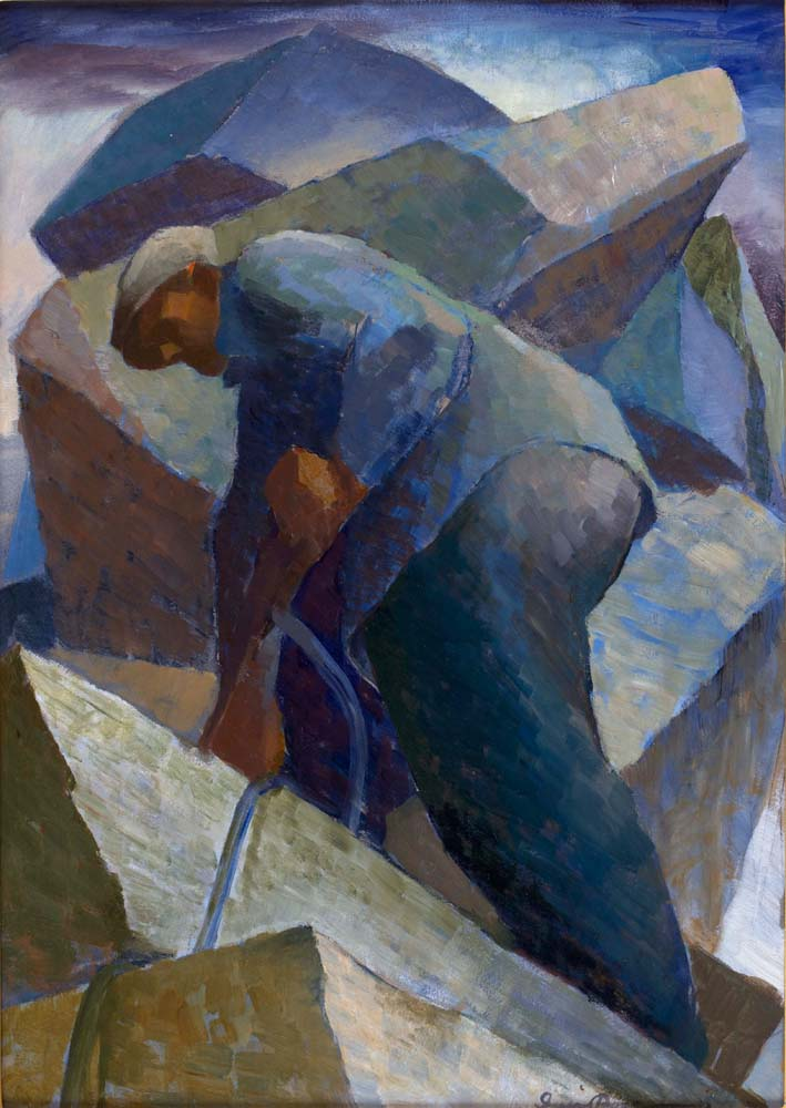 June Calendar Pieces : Quarry worker by iver rose cape ann museum an american