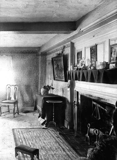 One of the first floor rooms, c. 1910.