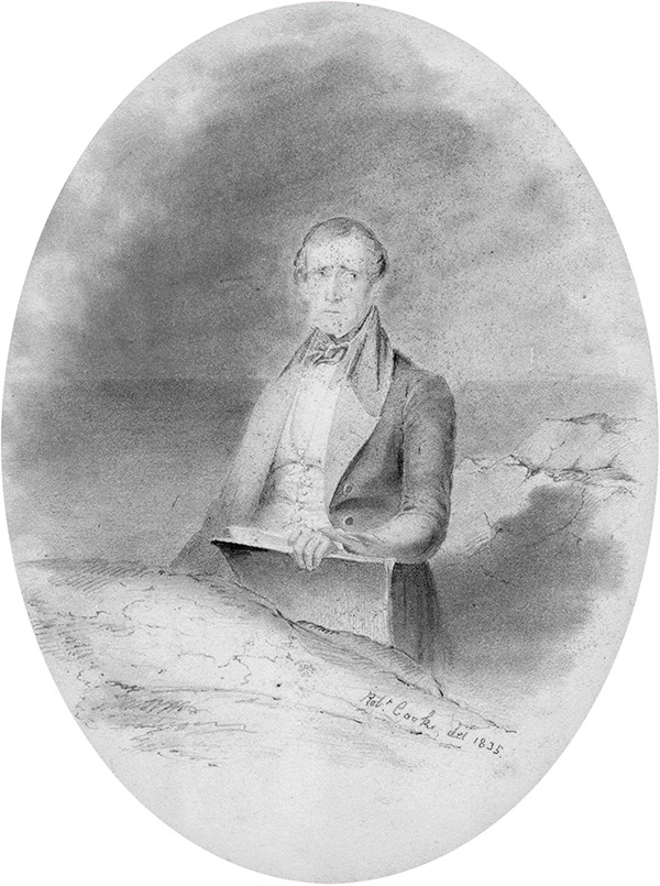 (above) Fitz Henry Lane at age 31 by Robert Cooke, 1835. American Antiquarian Society.