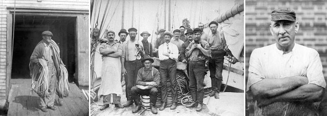 Historic photos from the fishing industry. Collection of the Cape Ann Museum.