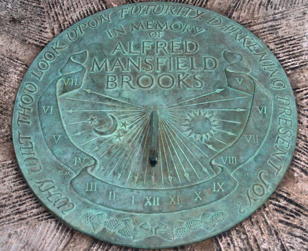 Walker Hancock (1901-1998). Alfred Brooks Memorial Sundial, 1967. Bronze. Gift of the artist, 1967. [Acc. #2012.67]