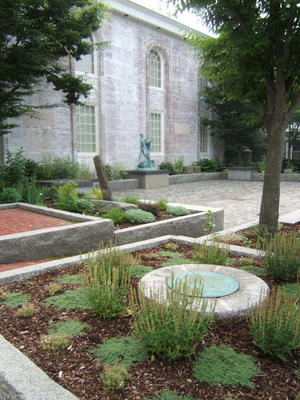 Entryway and Sculpture Garden at the Cape Ann Museum