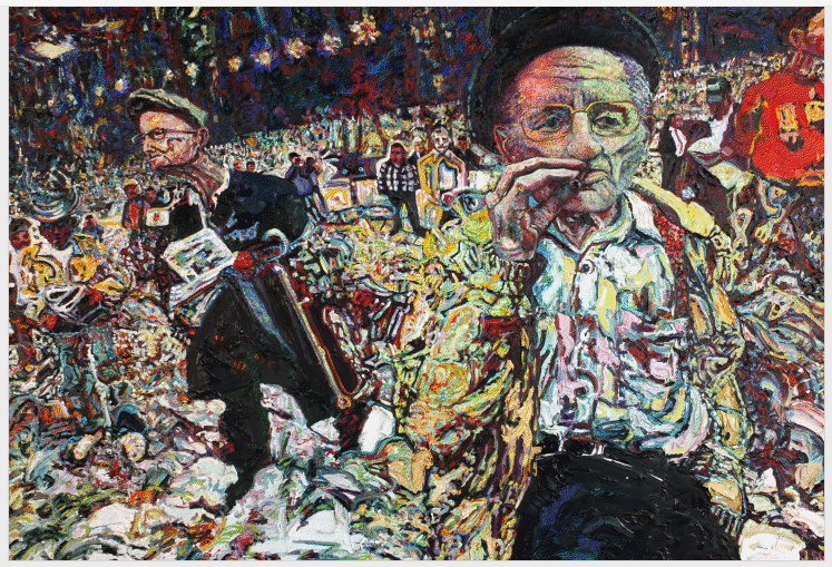 Dennis Flavin, Cigar Joe, c. 1985, Oil on canvas. Collection of John C. Terelak.