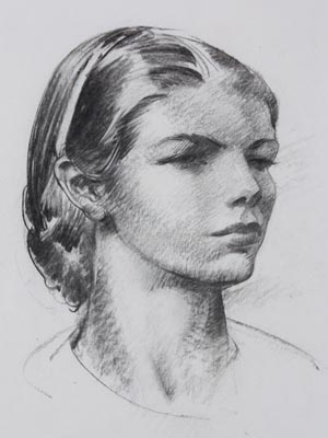 Leon Kroll, Portrait of Virginia Lee Burton Demetrios, mid 20th century. Pencil on Paper. Purchased by the Mary Maletskos Memorial Fund
